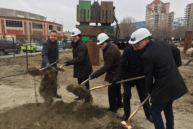 Construction of Kelowna's two tallest buildings commences (Kelowna Capital News)