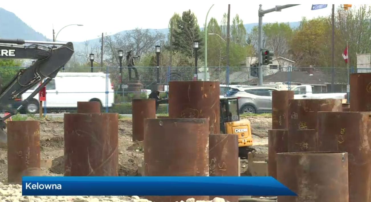 ONE Water Street Piles Complete (Global Okanagan)